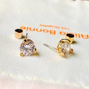 Alicia Bonnie 2 Carat solitaire earrings